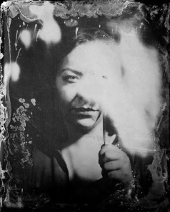Collodion Wet Plate on Aluminium.